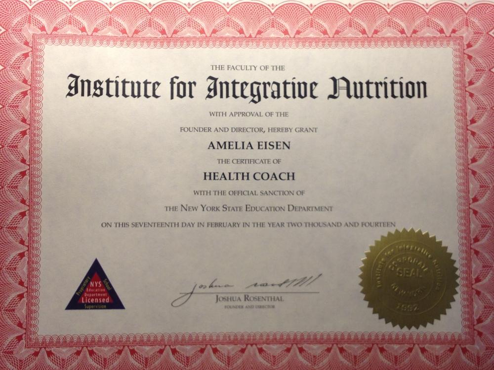 Health Coach – Amelia Eisen